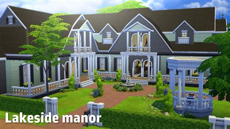 The Sims 4: House Building   Lakeside Manor   YouTube