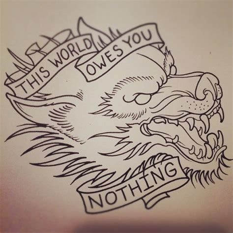 wolf tattoo on