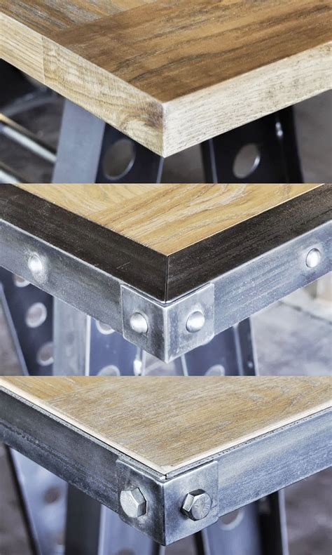 wood tops vintage industrial furniture