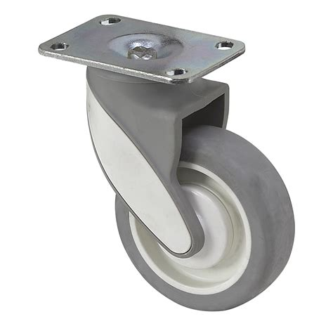 Roda 1 1 4 125 Casters Gepeng 1 Set 4 Pcs Promo T37 N0148 4 quot x 1 1 4 quot medcaster swivel plate caster mq04tpp125swtp01 plate casters casters wheels
