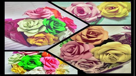 realistic paper flower tutorial how to make realistic paper roses bouquet tutorial