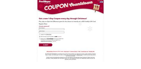 Fred Meyer Gift Card Coupon - fred meyer coupon countdown instant win game fredmeyer com holiday