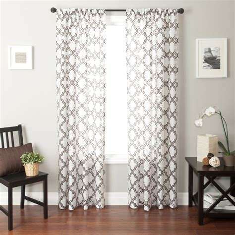 Sheer Patterned Curtains Blindsgalore Signature Drapery Panel Quatrefoil Sheer Contemporary Curtains By Blindsgalore