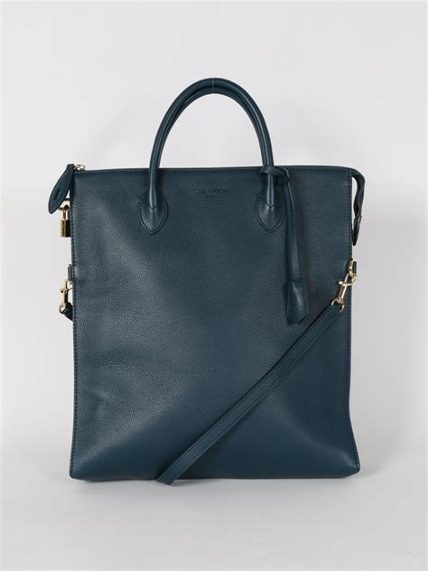 Ultra Exclusive Bags From Louis Vuitton by Louis Vuitton Mobil Leather Bag Cyan Luxury Bags