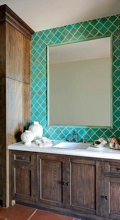 Turquoise Blue Moroccan Tile Backsplash With Turquoise Turquoise Backsplash Tile