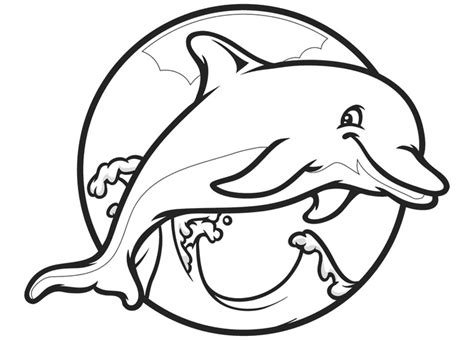coloring pages of dolphins printable dolphin template animal templates free premium templates