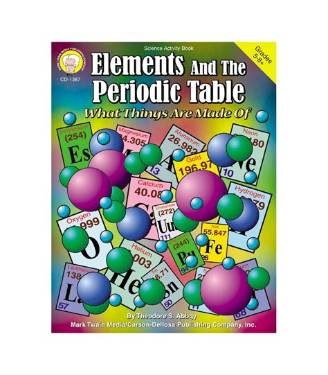 elements and the periodic table guided reading and study elements and the periodic table resource book grade 5 12