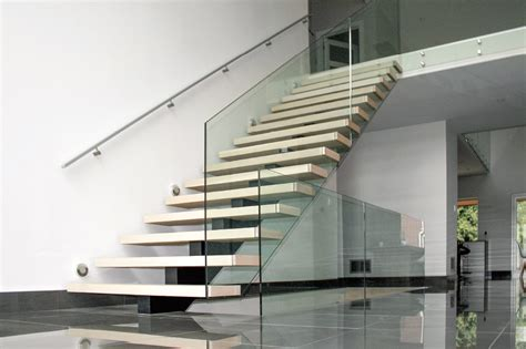 Pool Handrail Installation Mrail Modern Stairs Mono Stringer Stairs