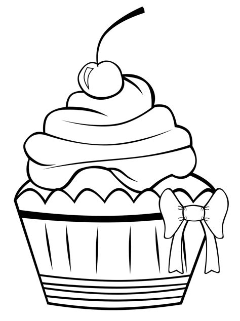 Coloring Pages For Cupcakes | cupcakes coloring pages free printable pictures coloring