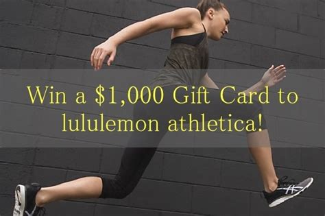 Where To Buy Lululemon Gift Card - win 1 000 gift card to lululemon athletica