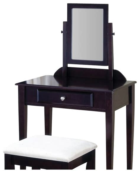 Makeup Vanity Stools Cappuccino Finish Make Up Vanity And Stool By Coaster