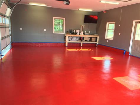 red floor paint red rust bullet floor