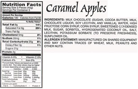 apple nutrition facts nutritional information the goodies factorysss
