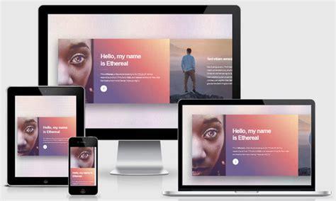 Personal Portfolio Template For Responsive Photography Website Design Free Responsive Portfolio Website Templates