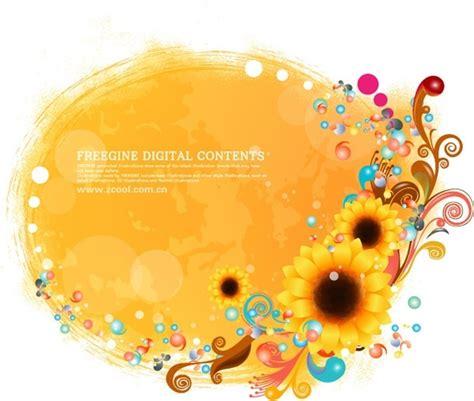 desain bunga matahari desain undangan motif bunga matahari contoh desain undangan