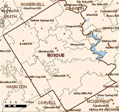 bosque county texas map bosque county texas independent school districts
