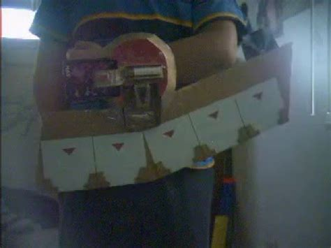 How To Make A Duel Disk Out Of Paper - yugioh cardboard duel disk
