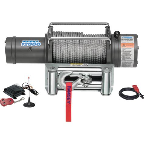 Winch Bull4x4 8000 Lbs 12 Volt 4 Ton ramsey patriot front mount 12v dc winch 9500 lb capacity