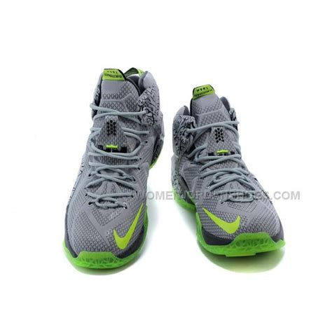 basketball shoes nike cheap cheap nike lebron 12 grey green basketball shoes
