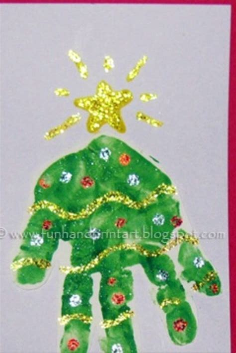 handprint christmas tree christmas theme pinterest