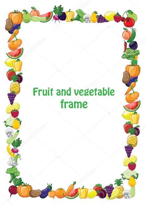 cornici vettoriali cornice di frutta e verdura vettoriali stock