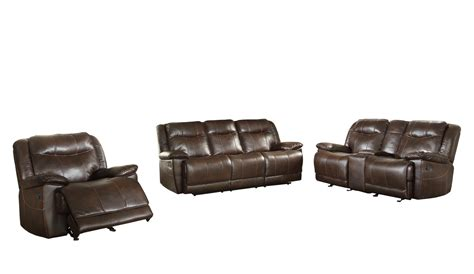 Leather Reclining Sofa Set Homelegance Wasola Reclining Sofa Set Leather Gel Match Russcarnahan