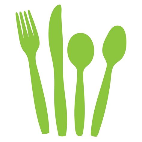 Kitchen Craft Knives free illustration cutlery knife fork spoon green