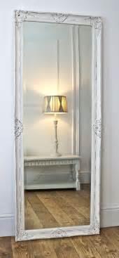 Large White Bedroom Mirrors Gerona White Shabby Chic Full Length Vintage Dress Mirror