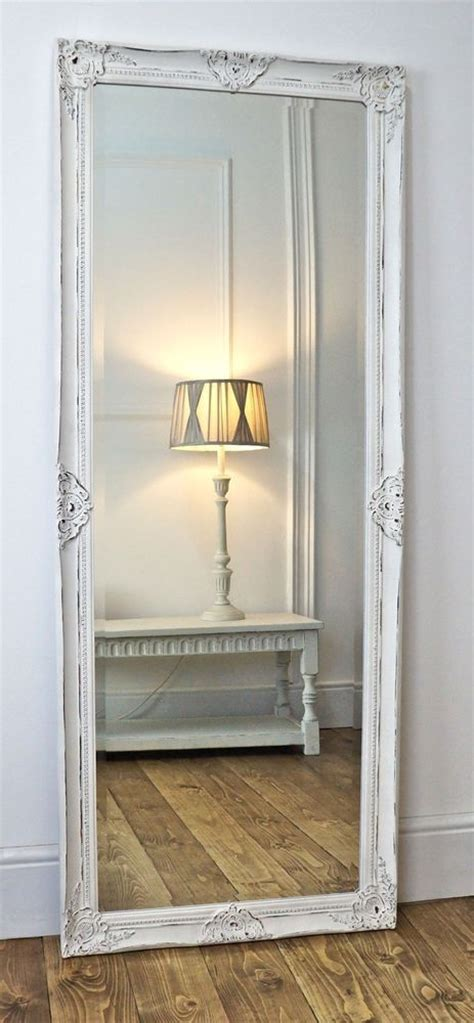 shabby chic bedroom mirrors gerona white shabby chic full length vintage dress mirror 17 quot x 53 quot v large in home