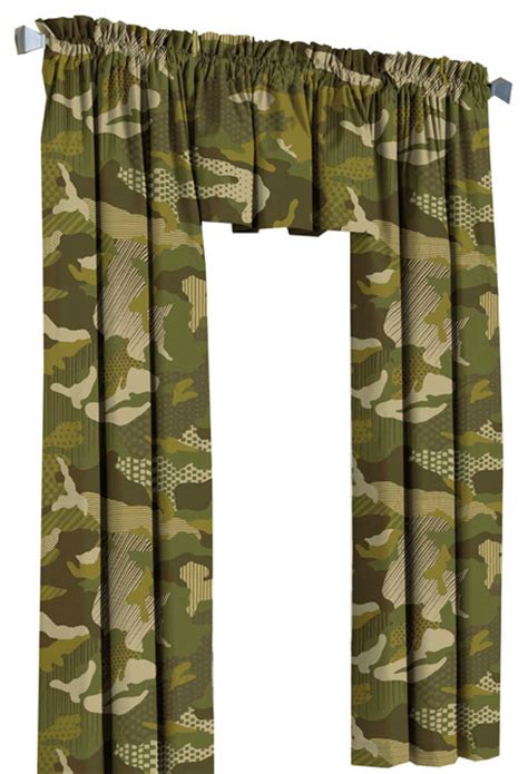 camoflauge curtains green camouflage drapes geo camo curtain valance set