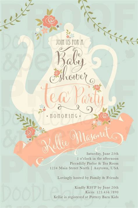 Tea Baby Shower Invites by Best 25 Babyshower Invites Ideas On