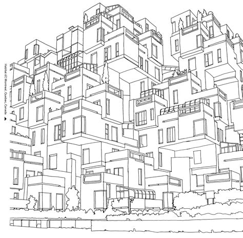 coloring pages for adults architecture coloring books for grown ups 7 free pages to print