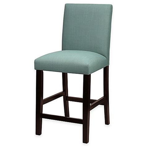 Teal Fabric Bar Stools by Buy Clark Parson 24 Inch Counter Stool In Leisure Teal