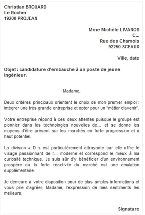 Lettre De Motivation Candidature Spontan E Gratuite Employ Libre Service Mod 232 Les Et Exemples Lettre De Motivation Candidature Spontan 233 E Mod 232 Les De Cv