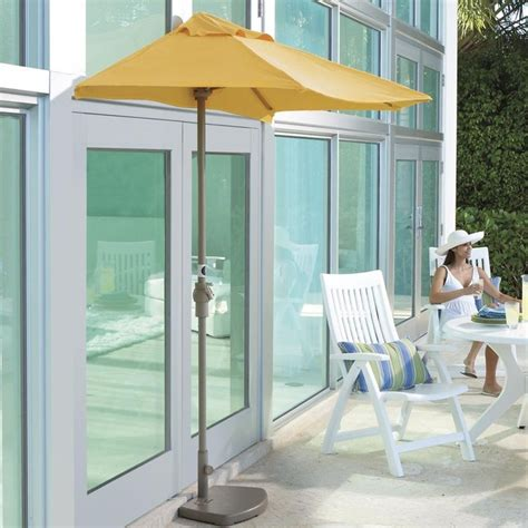 half canopy patio umbrellas contemporary outdoor