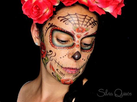 tattoos de catrinas sugar skull makeup using temporary tattoos quir 243 s