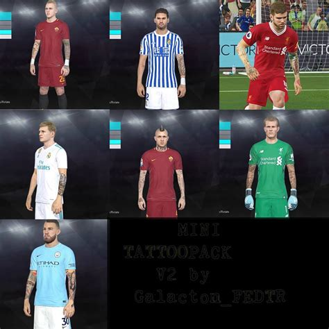Tattoo Pack Pes 2018 | pes modif pes 2018 tattoo pack v2 by galacton faceeditor