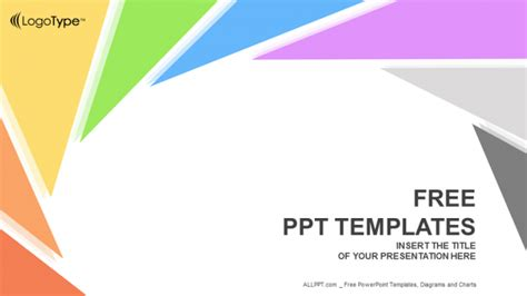 Rotation Triangle Abstract Powerpoint Templates Powerpoint Show Templates Free