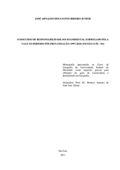 Abnt Tcc Como Requisito Parcial Para Obtenção Do Grau Mba by Monografia Capa E Contra Capa