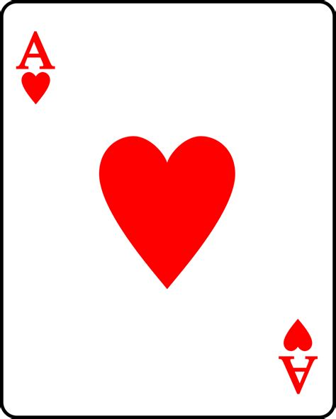 of hearts card template ace of hearts