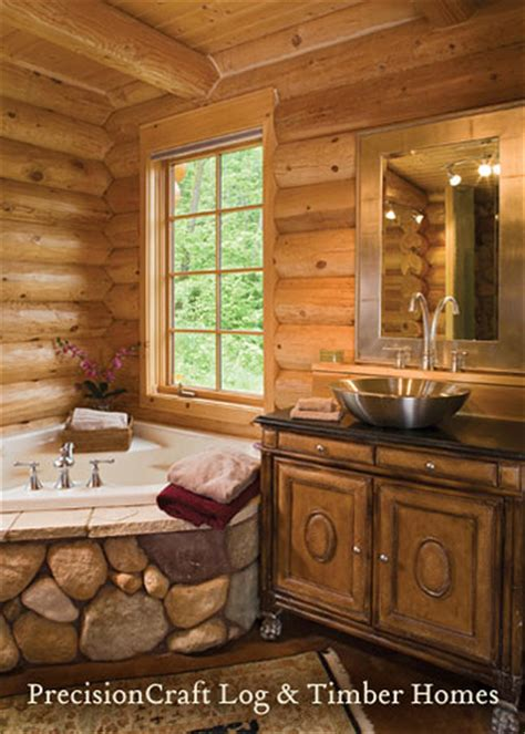 Milled log home custom designed from precisioncraft log homes