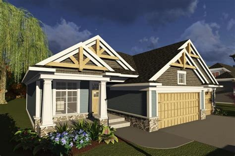 craftsman cottage style house plans single story house