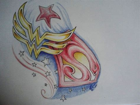 wonder woman tattoo designs images of tatoos of and superman together