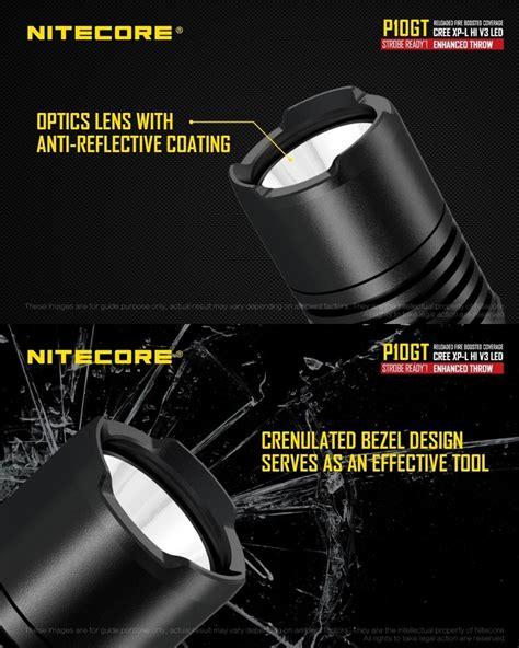 Nitecore P10gt le torche tactique nitecore p10gt 900lumens acc 232 s