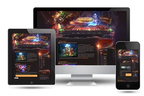 Legion Game Wordpress Template Gaming Community Website Templates