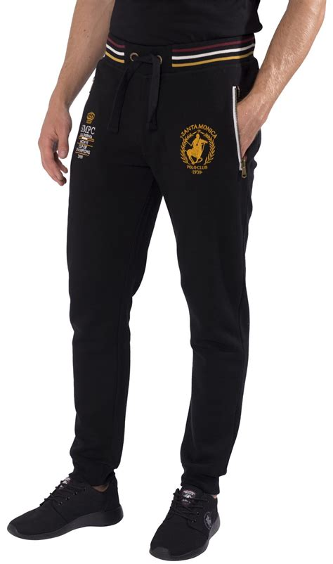mens cuffed joggers tracksuit bottoms sweatpants by santa polo club s xl