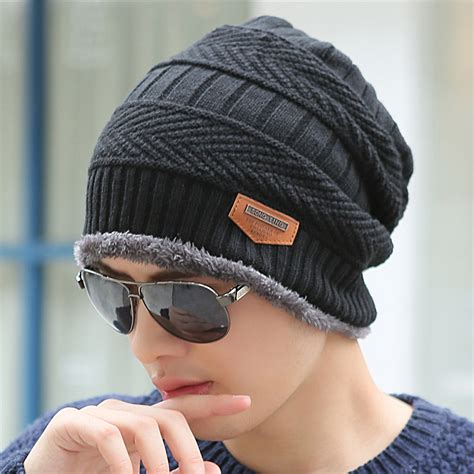 mens knit caps boys winter hat knit scarf cap winter hats for