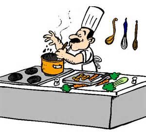 dessin de cuisinier dans la cuisine colorie par membre non