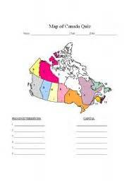 worksheet map of canada quiz