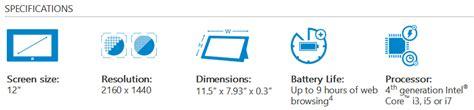 Dan Spesifikasi Microsoft Surface 3 spesifikasi dan harga tablet microsoft surface pro 3